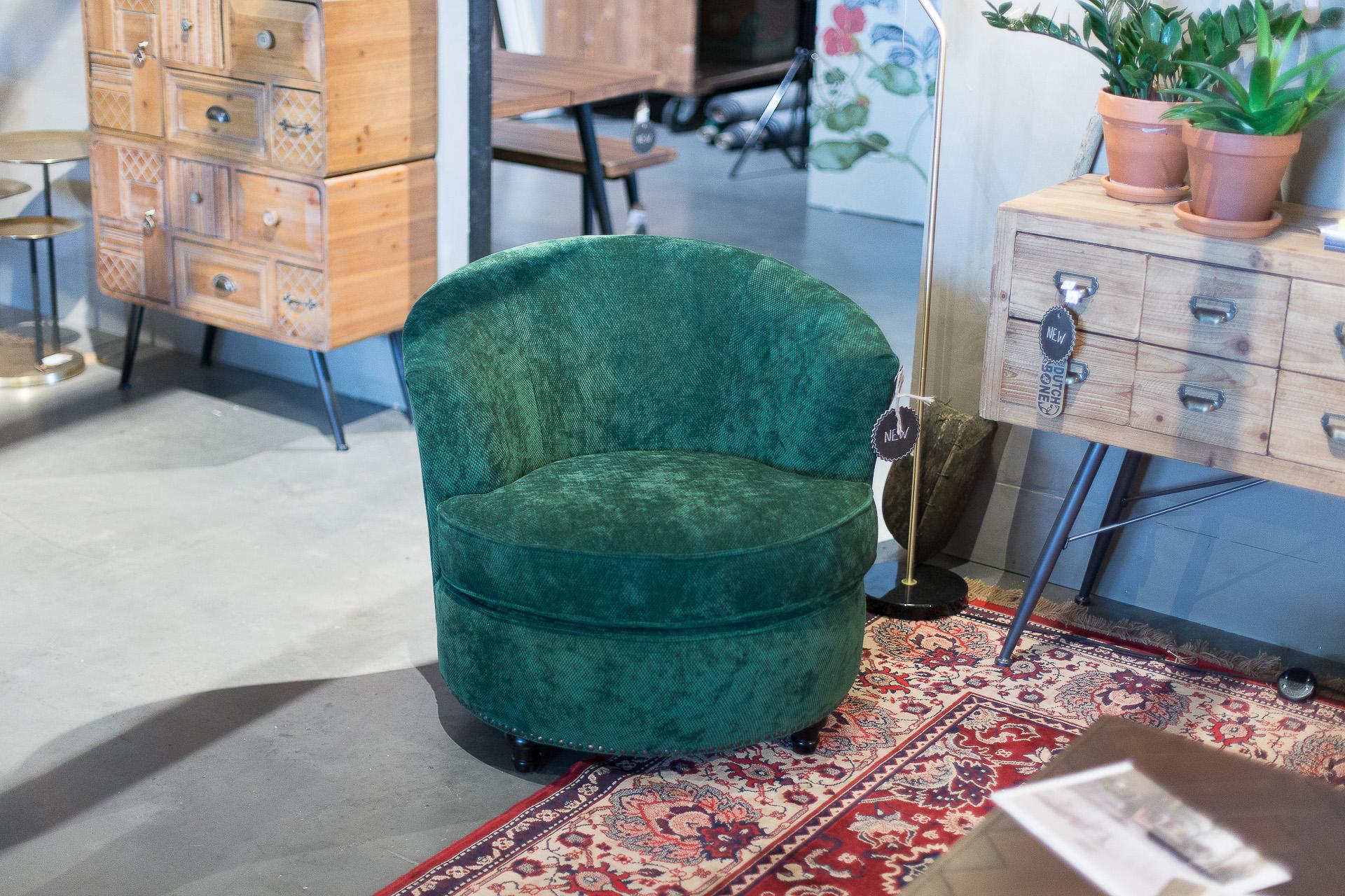 Inneneinrichtung Heidelberg, Mannheim, Stuttgart - Gaffga Interieur Design - Moebel von Zuiver, grüner Sessel