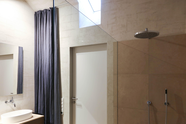 Penthouse in Mannheim - Dusche - Inneneinrichtung Heidelberg, Mannheim, Stuttgart - Gaffga Interieur Design. Planung und Ausführung - Lichtplanung - Möbel auf Maß.