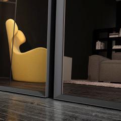 BMB Italy, Glasspezialist, große Spiegel mit Metallrahmen, Inneneinrichtung & Raumgestaltung in Heidelberg und Mannheim, Gaffga Interieur Design
